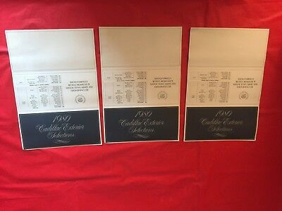 "k. LOT 3--1980 Cadillac ""Exterior Colors & Vinyl Roofs"" Dealer Sales Brochures"