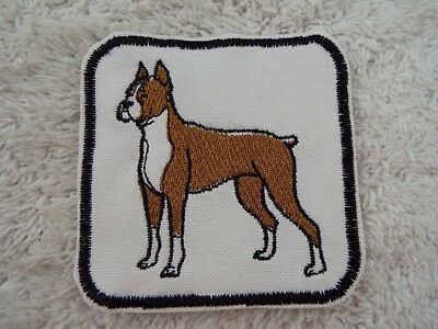 """Brown COW 3-5//8/"""" Embroidered Iron-on Patch E36"""
