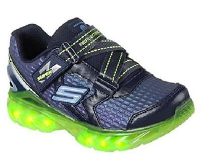 9f05110c9634 Boy s Youth SKECHERS REFLECTORS FLEX CHARGE Blue+Green Sneakers Shoes 90700  NEW