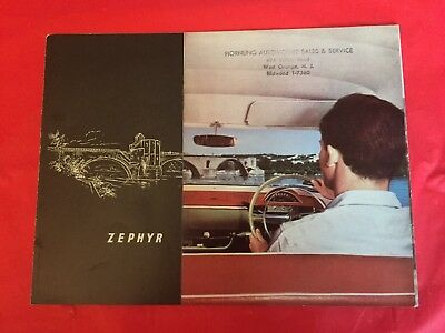 k. 1958 Zephyr Car Dealer Sales Brochure