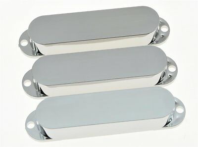 *NEW PICKUP COVERS for Fender Standard Stratocaster Strat Chrome with NO HOLES