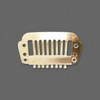 12 Gold Plated Stainless Steel Hair Combs / Add Charms Or Beads / 28x16mm *