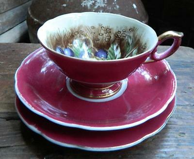VINTAGE High Tea Hand Painted Japanese China Trio Cup, Saucer & Plate