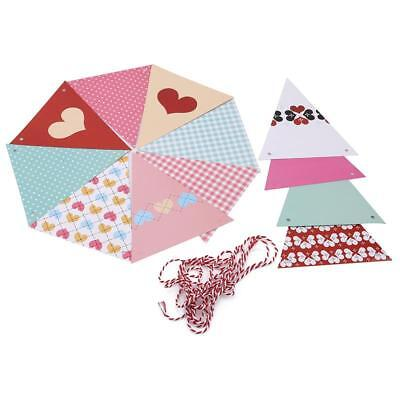 Triangle Bunting Paper Shabby Chic Wedding Party Vintage Decorations 1 Set LD