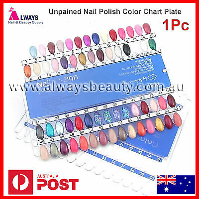 Unpainted Nail Polish Colour Chart 60 grids Display Chart Aussie Sale