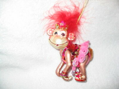 Monkey Party Animal Glass/Resin Ornament Zoo Tropical Caribbean Tiki Circus