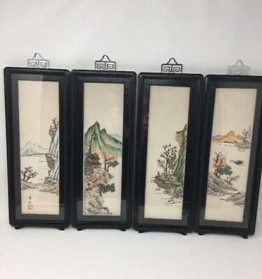 Vintage Framed Micro Mini Shell Art Framed Republic of China Taiwan Landscapes