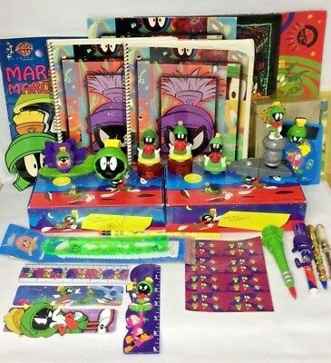 Looney Tunes - Marvin the Martian - Vintage School Supply Lot - RARE! 90's