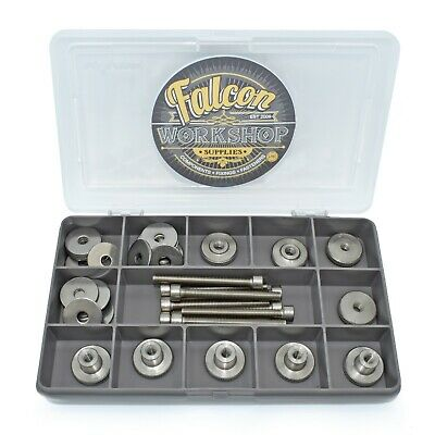 44 Piece M5 A2 Steel Knurled Thumb Nuts High/thin Type Socket Screws Washers Kit
