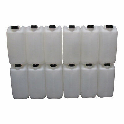 12 X 25 Litre 25L 25000Ml New Plastic Bottle Jerry Can Water Container Carrier