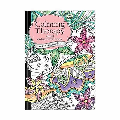 Calming Therapy Adult Colouring Book Relax Drawing Art Pattern Designs 60 Pages