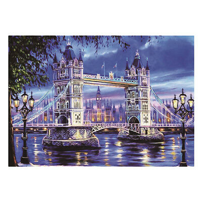 DIY 5D Diamond Painting London Bridge Embroidery Cross Stitch Craft Home Decor