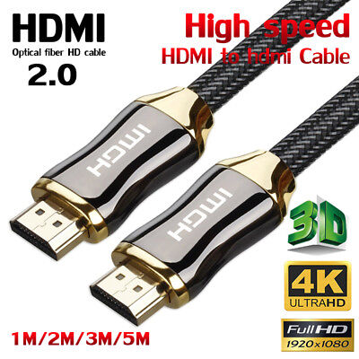 Premium HDMI Cable V2.0 3D 4K Ultra HD Audio Gold Plated HighSpeed 1/2/3/5M