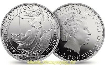 One Ounce of Fine Silver .999 Pure 1Oz Silver Britannia 2012 Coin UNCIRCULATED!!