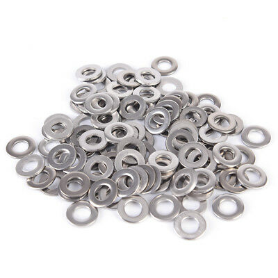 100PCS Stainless Steel Washers Metric Flat Washer Screw Kit M3 M4 M5 M6 M8 M10S&
