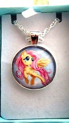 MY LITTLE PONY FLUTTER SHY 18 inch NECKLACE 5 TO 7 Year GIFT BOX PARTY BIRTHDAY