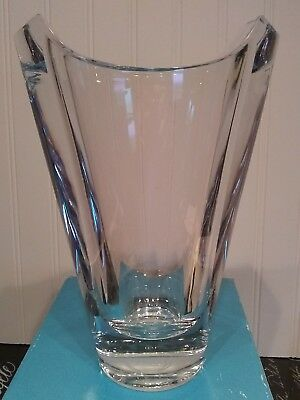 Nambe Full Lead Crystal Small Pocket European Vase Slovenia Clear