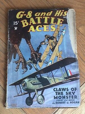 G-8 and His Battle Aces - US Air War Pulp Magazine Oct.1935 - Robert J. Hogan