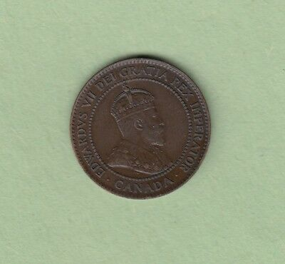 1903 Canadian Large One Cent Coin - EF
