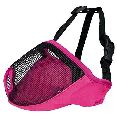 Muzzle For Short-nosed Breeds, Polyester S: 20 Cm, Pink