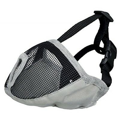 Muzzle For Short-nosed Breeds, Polyester Xs–s: 15 Cm, Grey