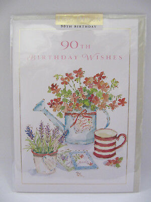 Beautiful Colourful Flowers 90Th Birthday Wishes Greeting Card