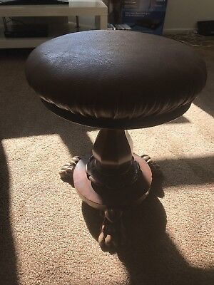 Antique William And Mary Revolving Round Piano Dressing Table Stool Seat