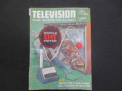 Television Magazine February 1971 Simple EHT Meter Improve Your TV Audio Channel