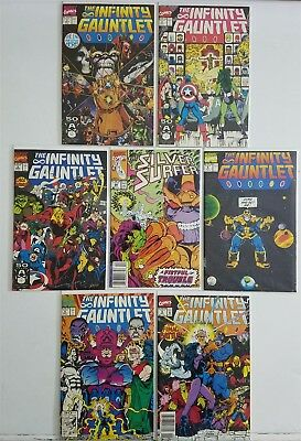 Infinity Gauntlet #1-6 + Ss 44 1St Appearance Comic Complete Full Run Lot Avg Nm