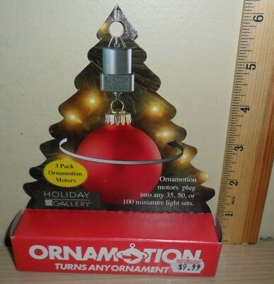 New Old Stock ~ Noma Ornamotion 3 Pack ~ Turns Any Ornament