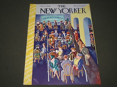 1940 October 5 New Yorker Magazine Front Cover Only - Great Illustrated Art