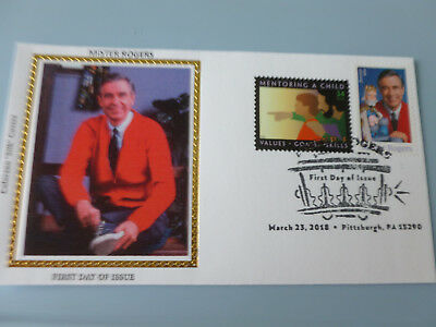 Mister Rogers 2018 Combo Stamp Fdc Sc#5275 Colorano Silk Cachet {Variety #1A}