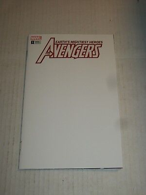 Marvel AVENGERS #1 Blank Cover Variant NM/M