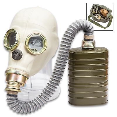 Polish MP3 NBC Gas Mask w/Hose, Sealed Filter & Transport Bag - Unissued