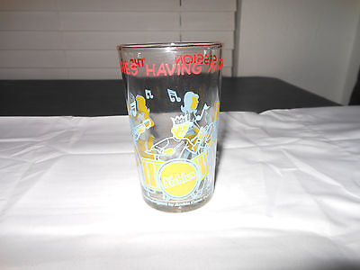 "The Archies Having A Jam Session Glass Vintage 4"" Tall"