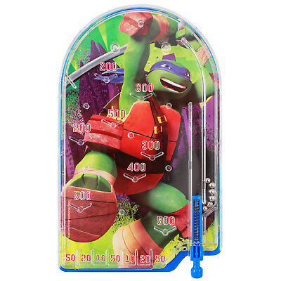 Nickelodeon Ninja Turtles Leonardo Handheld Pinball Travel Toy Game
