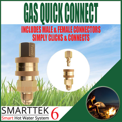 Smarttek Gas Quick Connect, quick setup hot water system for outdoor shower