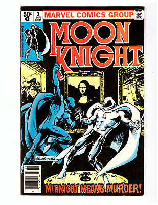 MOON KNIGHT #3 in VF condition a 1981 Marvel Comic TV series coming