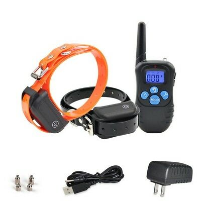 Waterproof Rechargeable Dog Training Collar Shock Behavior with Remote for 2 dog