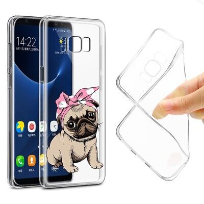 CUTE Dog Puppy Pug Bunny Cat Soft Silicone Case Cover For iPhone X 6 5 Samsung