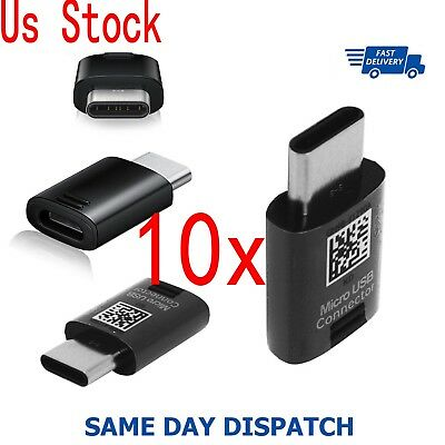 For Samsung Galaxy S8 S9 Plus Note 8 Charger USB Type-C Cable Adapter Connector