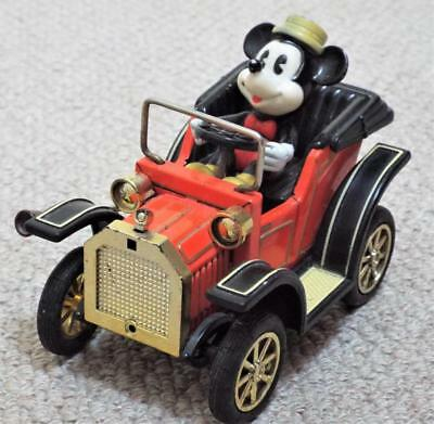 Vintage 1981 Mickey Mouse in a Lever Action Motor Car - Masudaya Corp - Japan