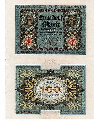 Germany Berlin 1920  x 2 consecutives 100 Mark Reichsbank Notes    UNC