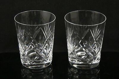 Two 2 Beautiful Webb Corbett Crystal Whisky Tumblers Glasses Westminster ??