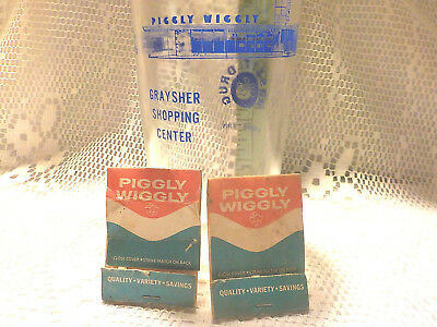 Vintage Piggly Wiggly Grocery Store Glass Advertising Glass Tumbler