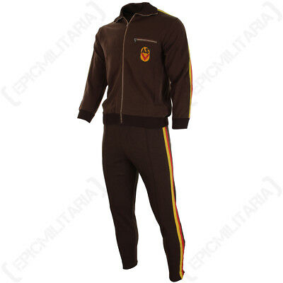 Original East German Brown Tracksuit - Military Army Surplus Sports All Sizes