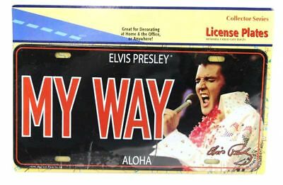 Official Elvis Presley The King My Way Aloha 70's Metal Decorative License Plate