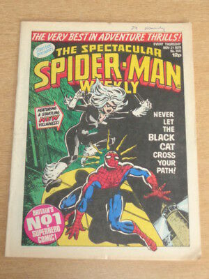 Spiderman British Weekly #350 1979 November 21 Black Cat Marvel