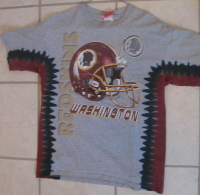 959aaebe9b9 LICENSED NFL WASHINGTON Redskins Logo V-dye Tie Dye T-shirt 2 Sided ...