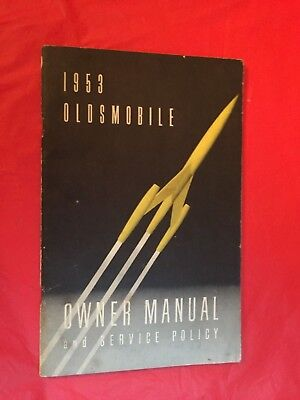 x. 1953 Oldsmobile Car Owner's Manual